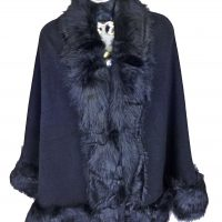 Black Faux Fur Wrap
