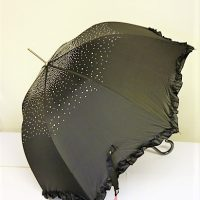 Black with clear Diamond Brolly