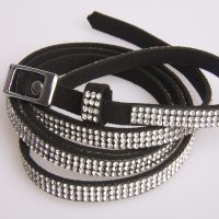 Diamante Thin Fashion Belt