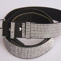 Diamante Wide Fashion Belt