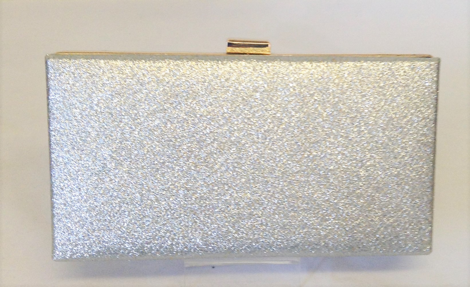 03460aaaede Silver Sparkle Glitter and Delicate Gold Snakeskin Box Clutch Bag ...