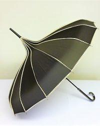 Black Pagoda Parasol Style Waterproof Umberella