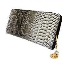 Black and White Snakeskin Purse