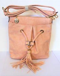 Light Pink Shoulder Bag with Tassel