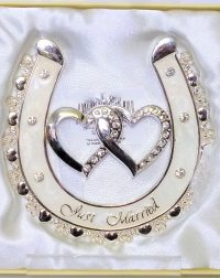 Just Married Enamelled Horse Shoe