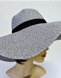 Black and White Oversized Hat