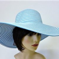 Blue and White Oversized Hat