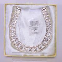 Diamante Silver Plated Horse Shoe