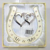 Mr & Mrs Enamelled Horse Shoe