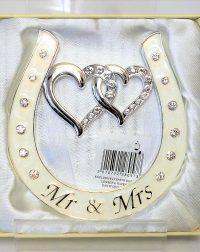 Mr & Mrs Enamelled Horse Shoe