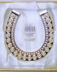 Pearl and Diamante Horse Shoe