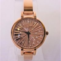 Eton Rose Gold and Diamante Bracelet Watch