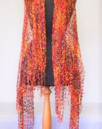 Burnt Orange Lace Wrap