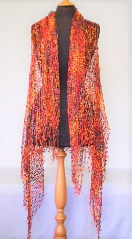 Burnt Orange Lace Wrap