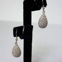 925 Silver CZ TearDrop Drop Earrings
