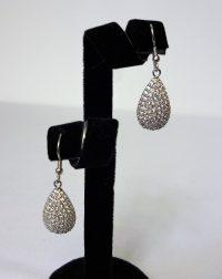 925 Silver CZ TearDrop Drop Earrings