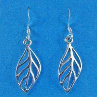 925 Silver Leaf Drop Earrings