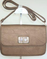 Pewter Metallic Over the Body or Shoulder Bag