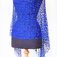 Royal Blue Lace Poncho