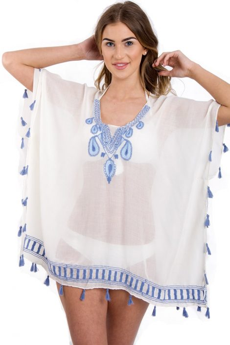 tear-drop-embroidered-kaftan-tassel-top-front