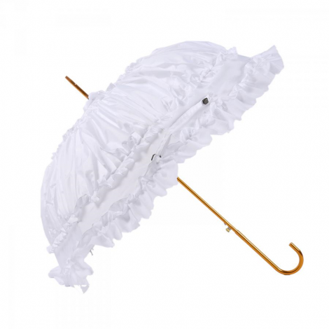 Unique pagoda peak shaped umbrella with lace detail