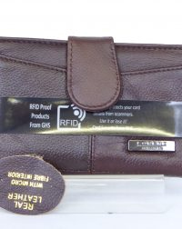 Brown Genuine Leather RFID Purse