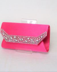 Fuschia Pink Diamante Clutch
