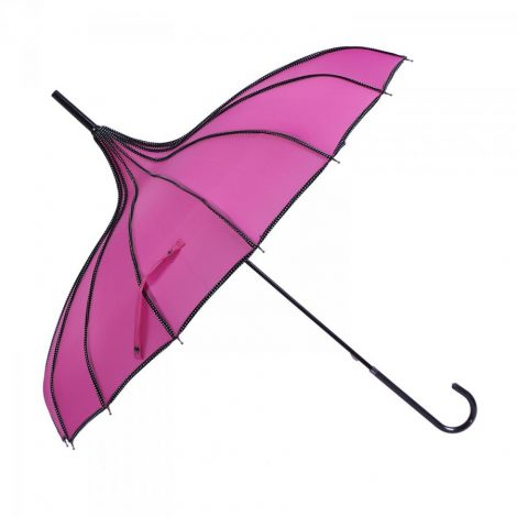 Fuschia Pink Pagoda Parasol Waterproof Brolly
