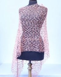 Light Orange Shiny Lace Poncho 1