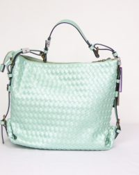 Peppermint Lattice Effect Under the Arm or Slouch Bag