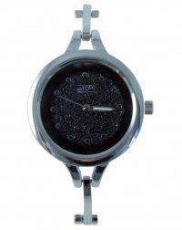 Ladies Eaton Black Face with Silver Bracelet Watch