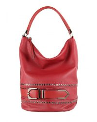 Red Bucket Belted Bag.