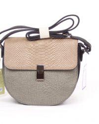 Beige and Metallic Olive Snakeskin Shoulder or Over the Body Bag 179376a77e400