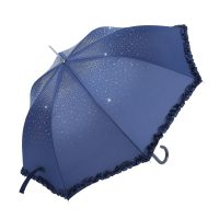 Blue Clear Diamond Parasol Waterproof Brolly
