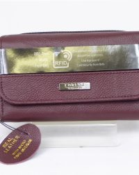 Burgendy Genuine Leather RFID Scan Proof Purse