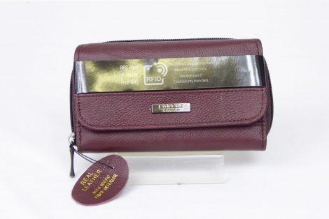 Burgendy Genuine Leather RFID Scan Proof Purse