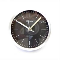 Silver Round Clock