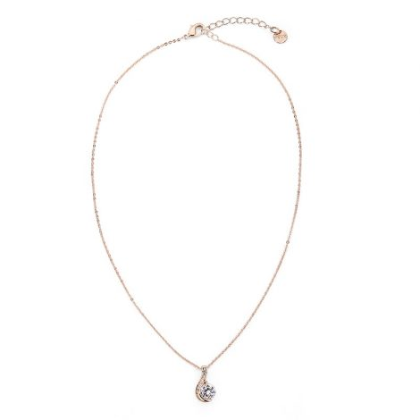 Sparkle Twist Pendant - Rose Gold Full