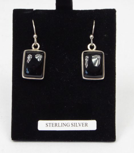 925 Silver and Black Onyx Earrings