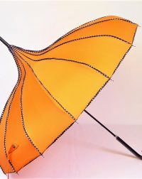 Orange Pagoda Parasol Waterproof Umbrella
