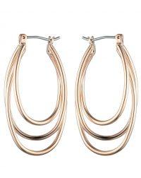 Rose Gold U Shaped Hoop Earrings