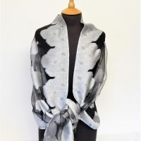 Silver and Black Roses Shawl