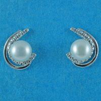 925 Silver Freshwater Pearl Stud Earrings