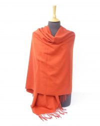 Burnt Orange Cashmere Shawl