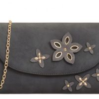 Dark Grey Clutch Bag