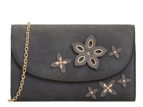 Dark Grey Clutch Bag