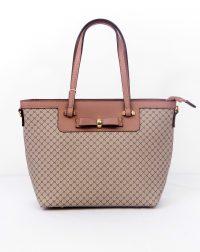 Dusky Pink Shopper Style Handbag