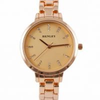 Ladies Henley Rose Gold Diamante Watch
