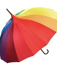 Oriental Rainbow Ornate Pagoda Style Occasion Umbrella Side