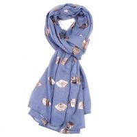 Pale Blue Rose Kiss Scarf